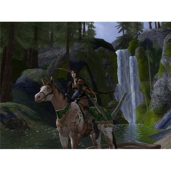 An Elven Champion Astride the Lithe Festival Horse