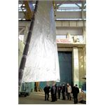 A piece of solar sail from the Cosmos 1 spacecraft
