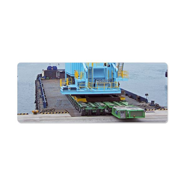 RORO Method For Heavy Equipment  Loading and Unloading