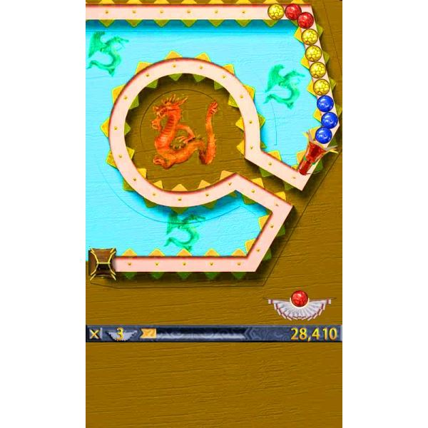 Aim your ball at the dragsons tail in DragonBall