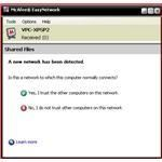 Elect whether or not to trust networks identified by Easy Network
