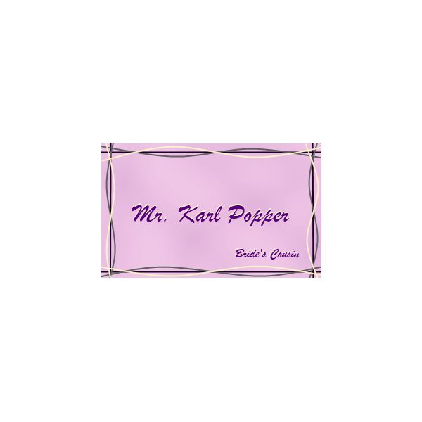 Name tags can facilitate mingling at your wedding.