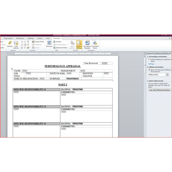 Free downloadable performance appraisal form for Human resource forms and templates