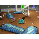 The Sims 3 slumber party sleeping bags