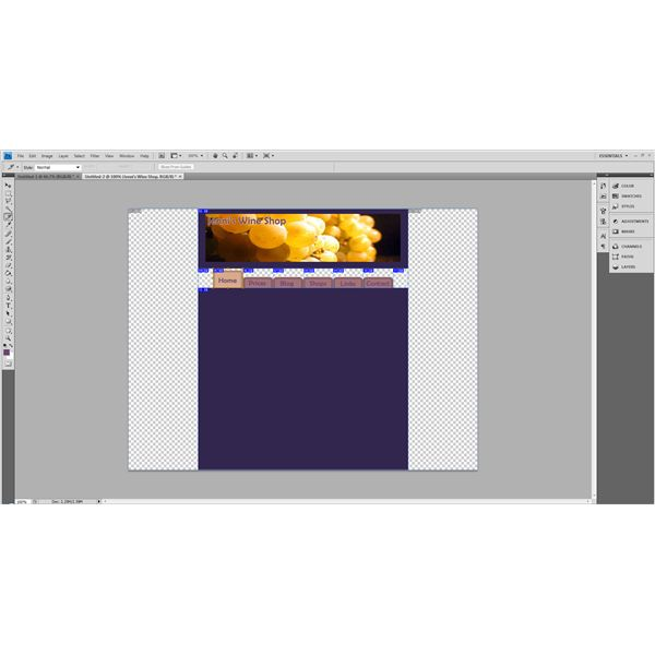 Adobe Photoshop Web Creation Sliced for Use with Dreamweaver CS5