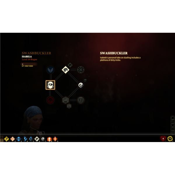 Dragon Age 2 Skill Tree: Swashbuckler