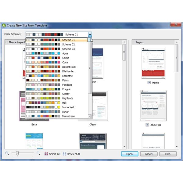 Templates and Color Schemes