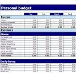 Screenshot MS Excel Budget