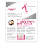 Breast cancer newsletter template.