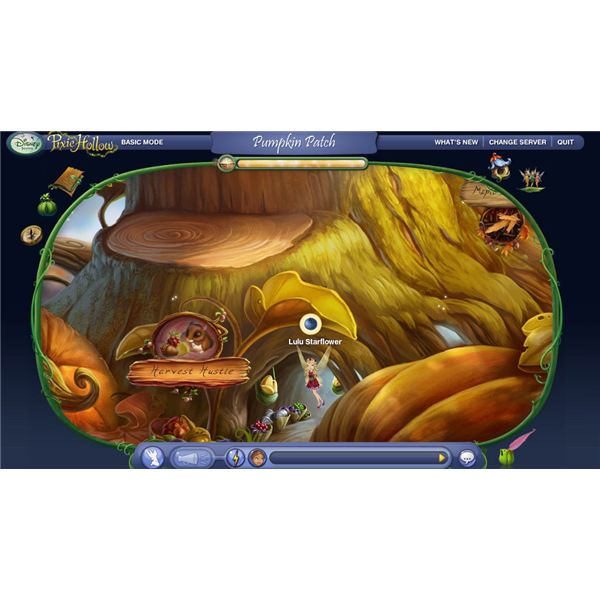 Pixie Hollow Harvest Hustle Game in the Pumpkin Patch