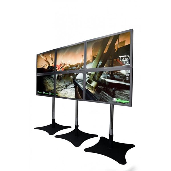 Eyefinity can support up to 6 monitors