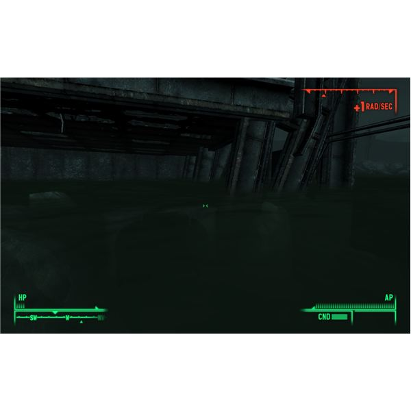 Fallout 3 - This Underwater Entrance is a Safe Route into the Abandoned Section of Rivet City