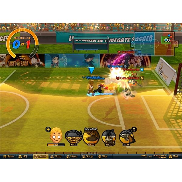 A soccer match…just like FIFA
