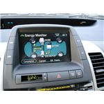 The Dashboard of a Hybrid Vehicle - Gas and Electric Motor - the Toyota Prius