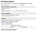 Gateway Bible Search: Keyword Search