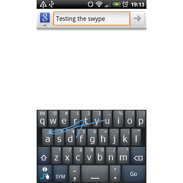 Testing the Swype Keyboard