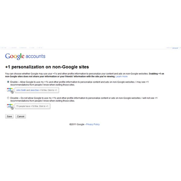 Personalization on non-Google sites