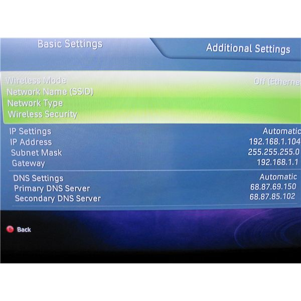 Xbox 360 Wireless Configuration