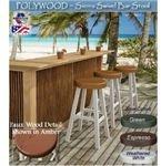POLYWOOD Sierra Faux Wood Swivel Bar Stool
