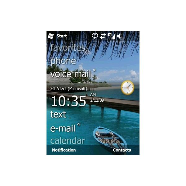 Windows Mobile 6.5 Home Screen
