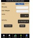 Calories burned calculator - Fitness App -Blackberry -pic