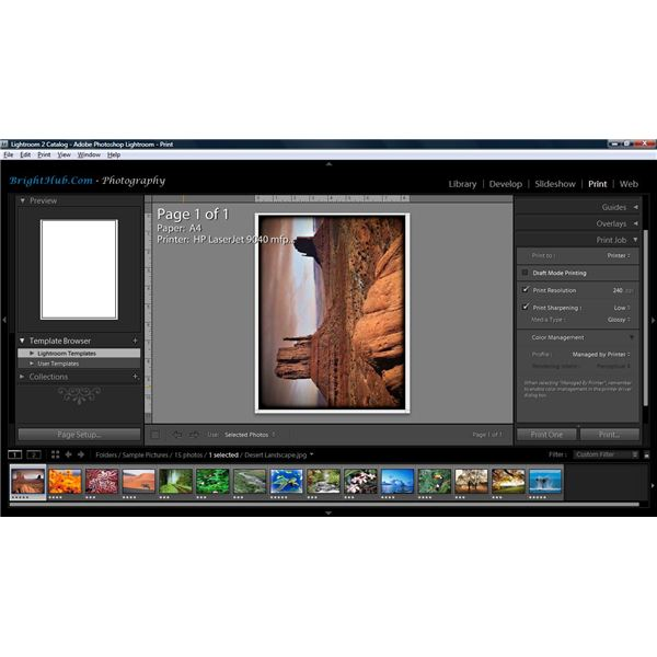 Adobe Lightroom - Print Module