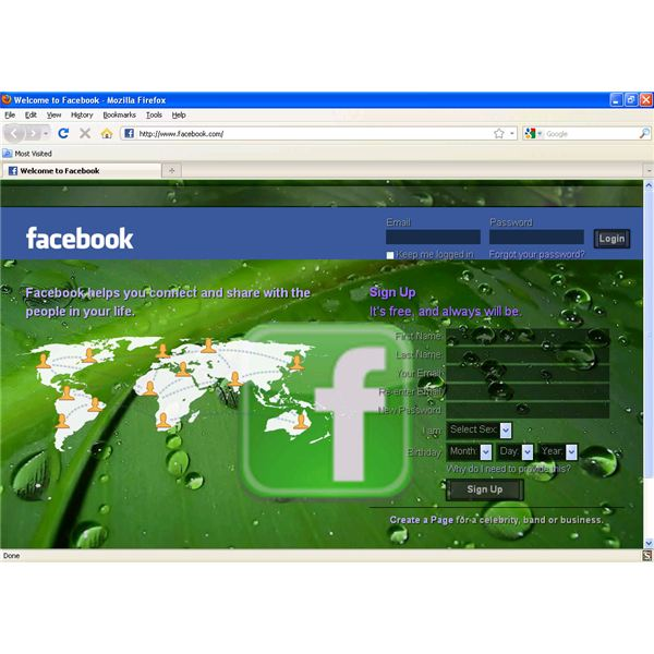 facebook with a new background