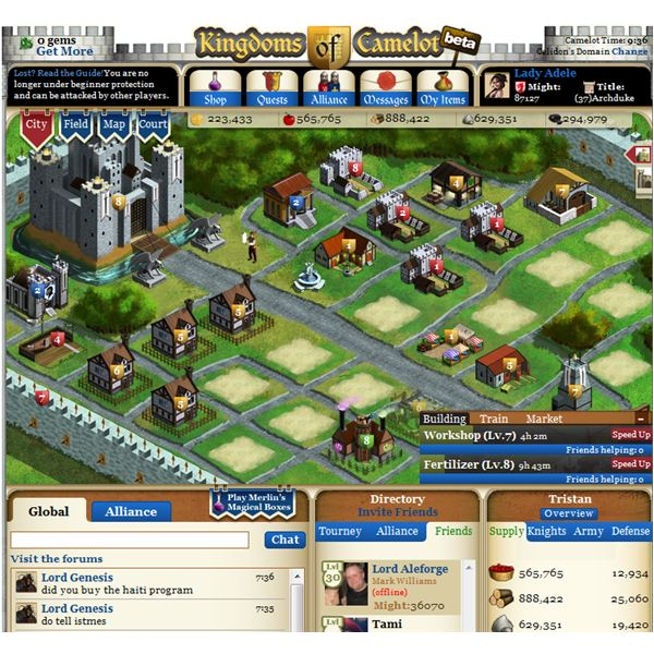 Best Games on Facebook - Kingdoms of Camelot and Mafia Wars
