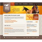 Horse Club Website Template by Entheos Web