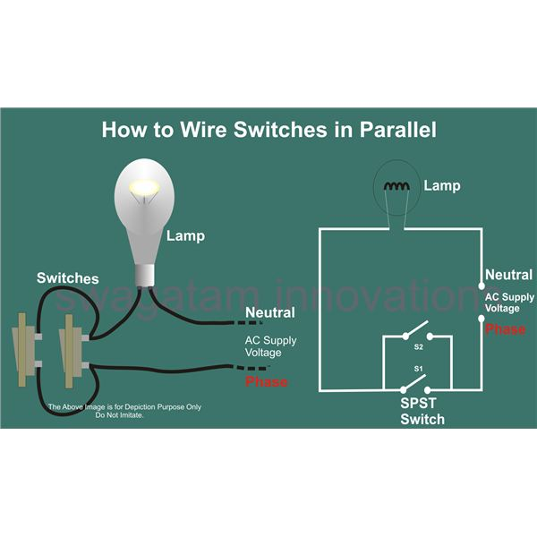 how to wire switches in parallel, circuit diagram,