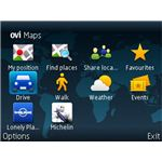 nokia maps menu