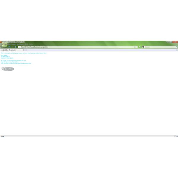 The completed web page with a Skype button