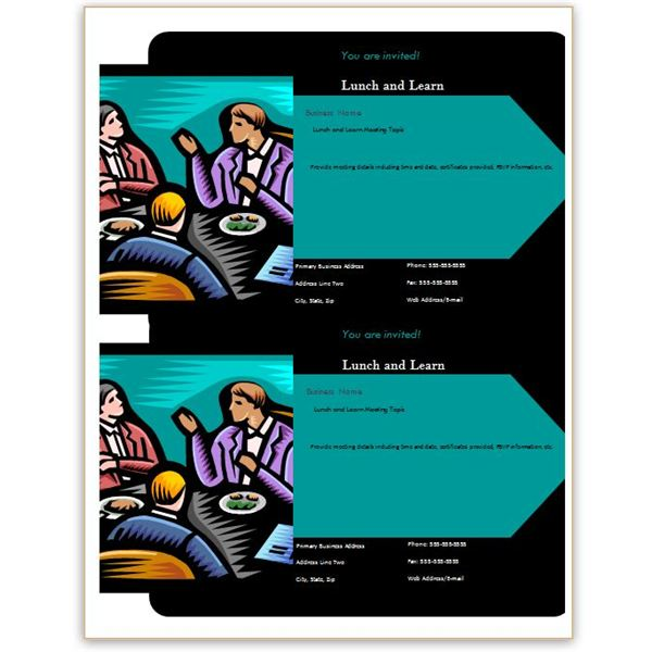 Lunch and Learn Postcard for Word