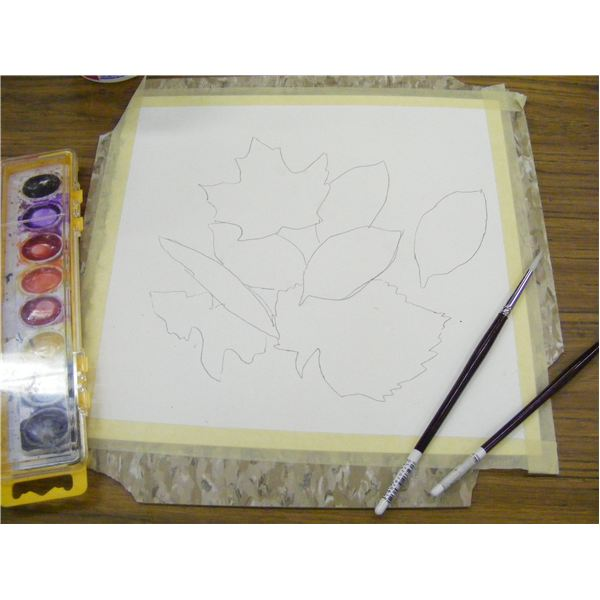 Draw the leaf shapes