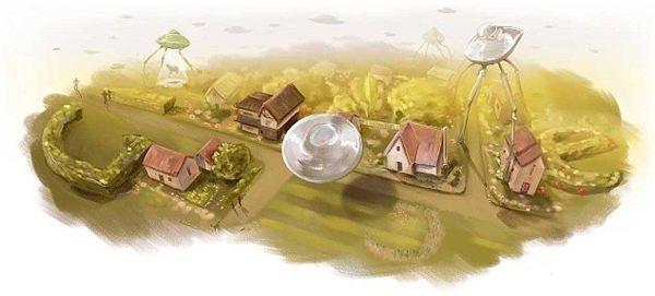 4. Mysterious UFO Doodles