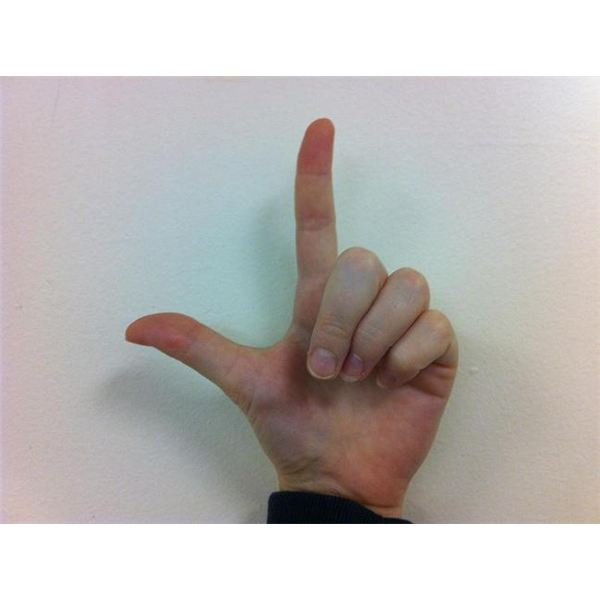 American Sign Language: Fingerspelling L