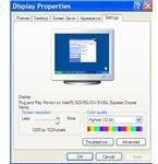 Display settings in Windows
