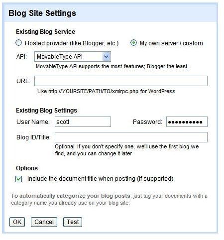 Using Google Docs as Your Blog Editor