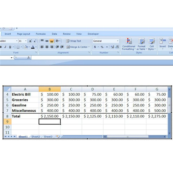 Modifying Table in Excel