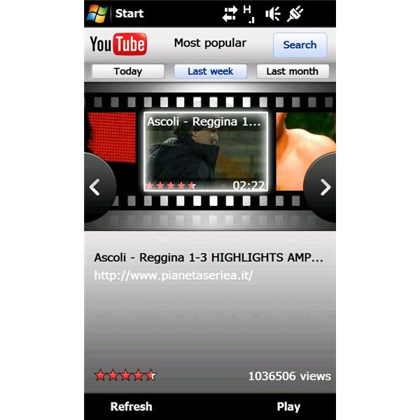 The finger friendly YouTube X-Panel interface