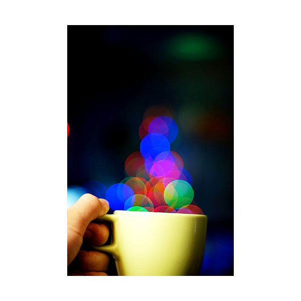 A cup of bokeh