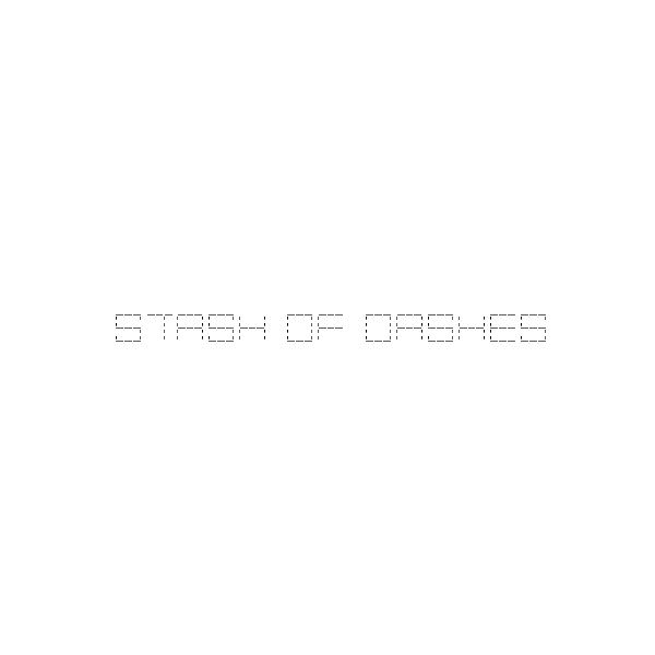 stash-of-dashes-font