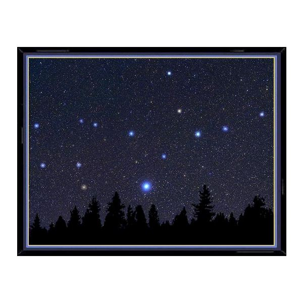 This photo of the constellation Virgo shows, enlarged in their true color, the main