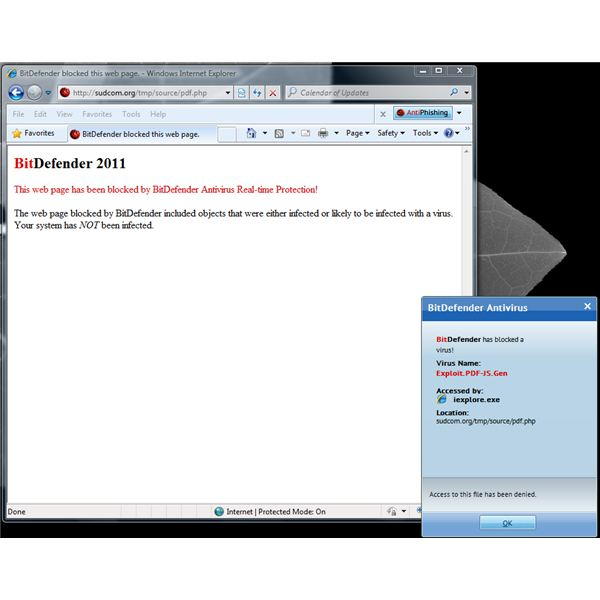 PDF Exploit block by BitDefender