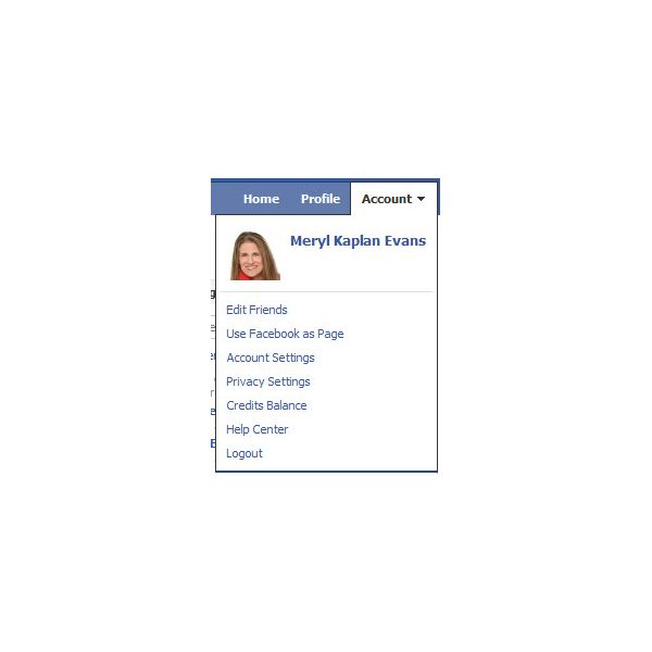 Manage your Facebook account
