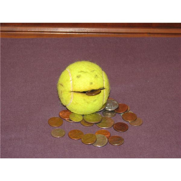 pushing pennies into ball