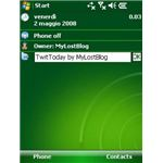 TwitToday integrates into your Windows Mobile Today screen