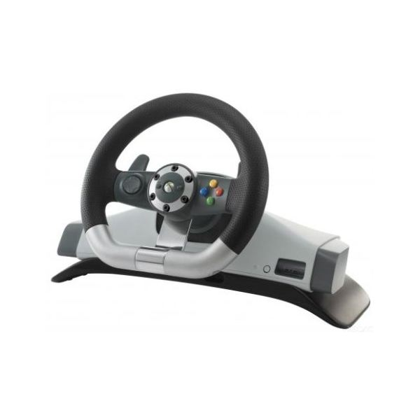 The Xbox 360 racing wheel will work with a PC using the correct adapter
