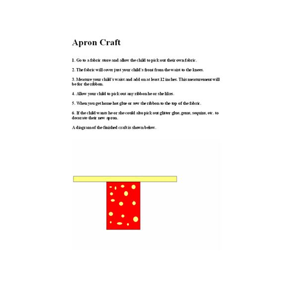 Apron Craft Directions