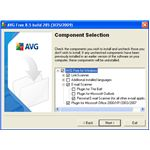 AVG Component Selection